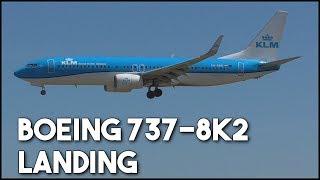 KLM Boeing 737 landing ✈️