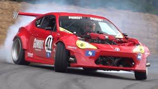 Ryan Tuerck's Ferrari-powered Toyota GT4586! - Drifting at Goodwood FOS 2019!