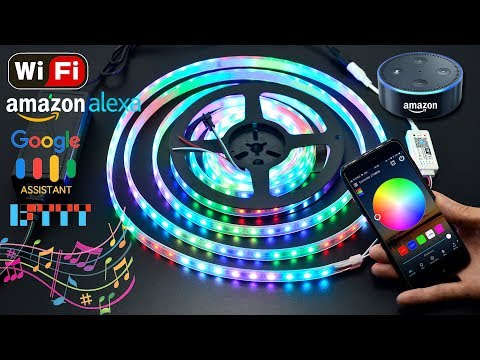 WiFi Music SPI Dream Color LED Controller Works with Amazon Alexa / Google Assistant