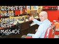 4k 💈 Complete Shave With Massage - Old School Italian Barber - ASMR Sounds