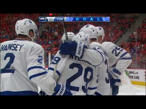 Auston Matthews Goal - 2017 Pre-Season: Toronto Maple Leafs VS Detroit Red Wings 2017-09-29