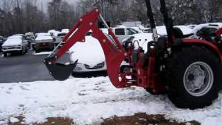 Building a snowman with a Mahindra Tractor video 3