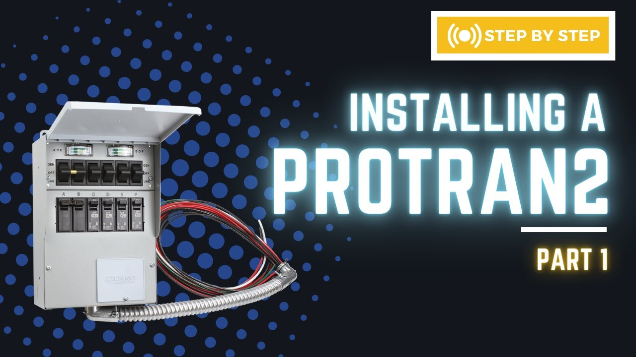 How To Install Reliance Controls Protran2 Part1 Tools And Wiring Diagram For Transfer Switch Planning