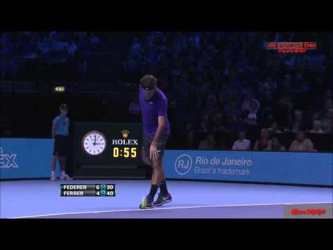 Roger Federer vs David Ferrer ATP WTF 2012