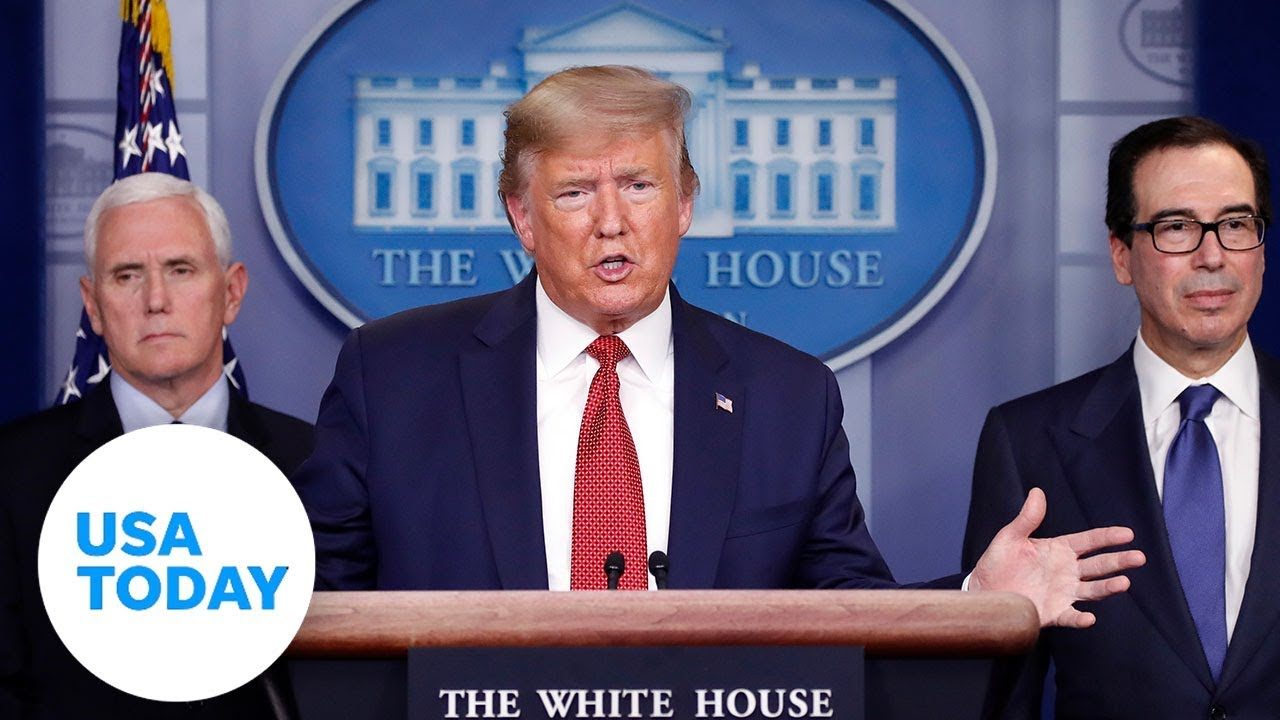 President Trump and Coronavirus Task Force address passage of stimulus bill | USA TODAY