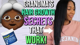GRANDMAS'  OLD SCHOOL HAIR GROWTH SECRETS THAT ACTUALLY WORK