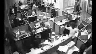 OFFICE WORKER GOES CRAZY:DESTROYS OFFICE