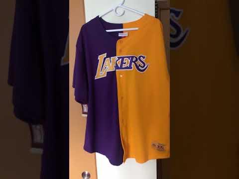 pretty nice ab446 0f273 Mitchell & ness lakers mesh split jersey