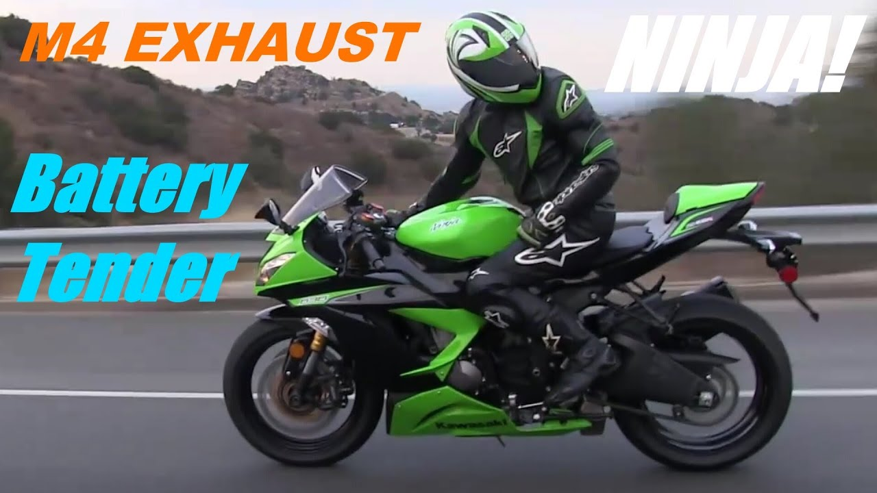 2013 Kawasaki Ninja 636 Zx6r With M4 Full Exhaust System