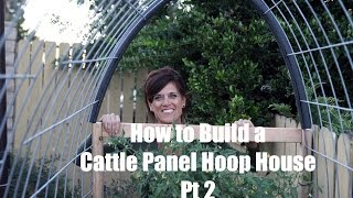 How I Built a DIY Cattle Panel Hoop House - Part 2