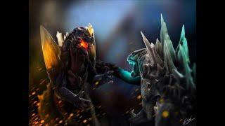 Godzilla 2014 vs. Spacegodzilla Stop Motion