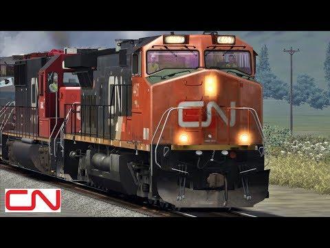 Canadian National Railway trains