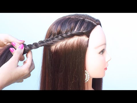 5-simple-hairstyle-for-open-hair-||-party-hairstyle-||-cute-hairstyle-||-easy-hairstyle-||-hairstyle