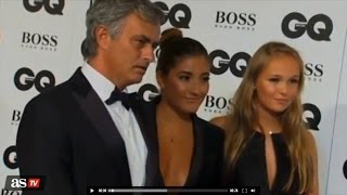 Chelsea manager Mourinho and daughter Matilde wearing revealing clothes on GQ Men.