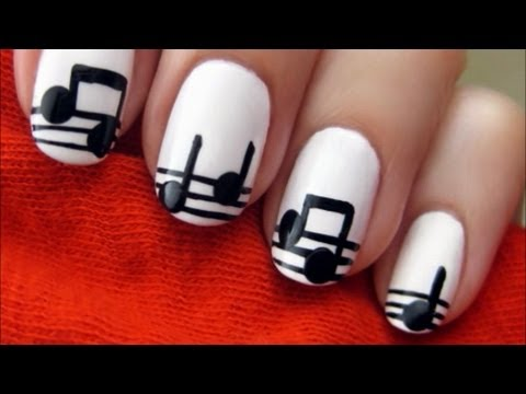 Easy Music Nails | CutePolish | Disney Style