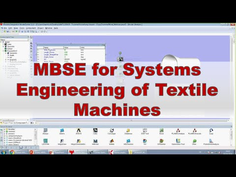 Model based Systems Engineering for Systems Engineering of Textile Machines