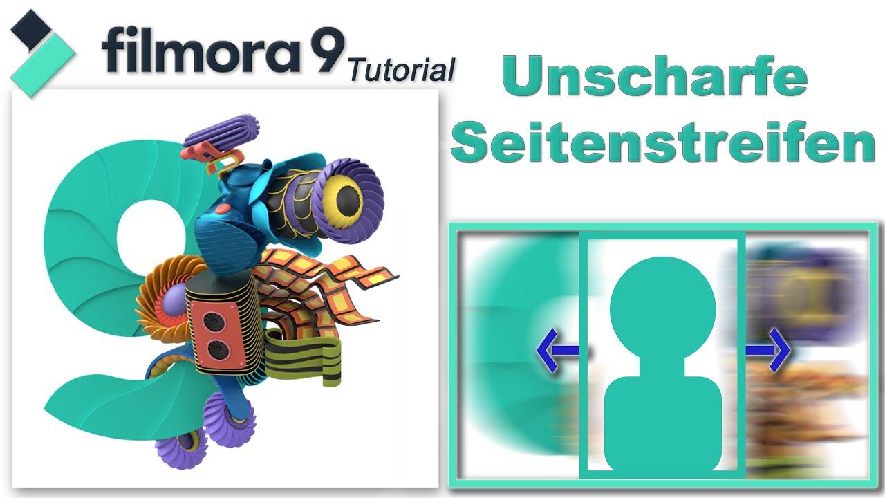 Hochkant Video - Hintergrund verschwommen / Filmora9 Tutorial deutsch