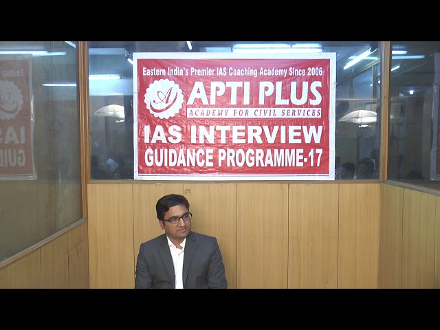 Mock Interview Of Indian Forest Service-2017 Topper Rajesh Kumar,AIR-55