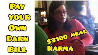 Karma: Woman Stuck With $3100 Bill