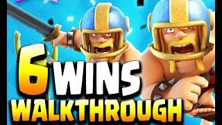 Walkthrough to 6 WINS in TOUCHDOWN MODE Challenge in Clash Royale New Update