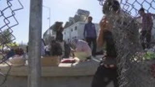 Overcrowded Lesbos migrant camp at tipping point