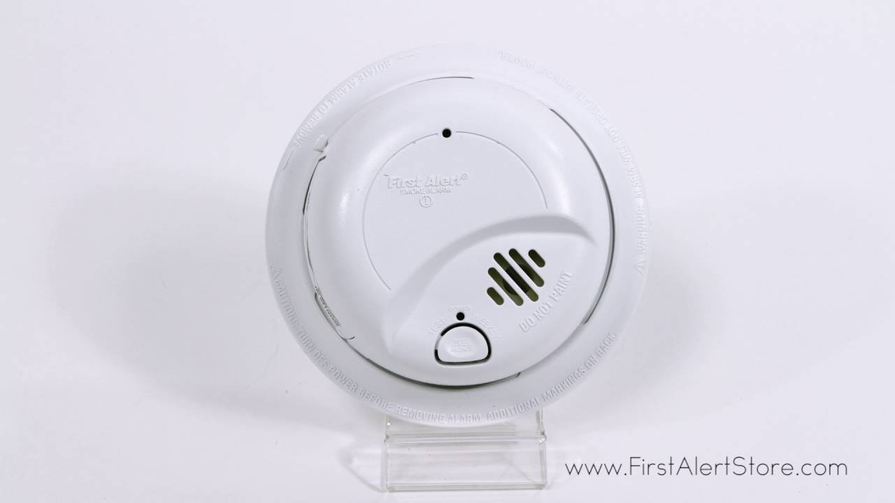 hight resolution of first alert hardwired smoke alarm with battery backup 9120b