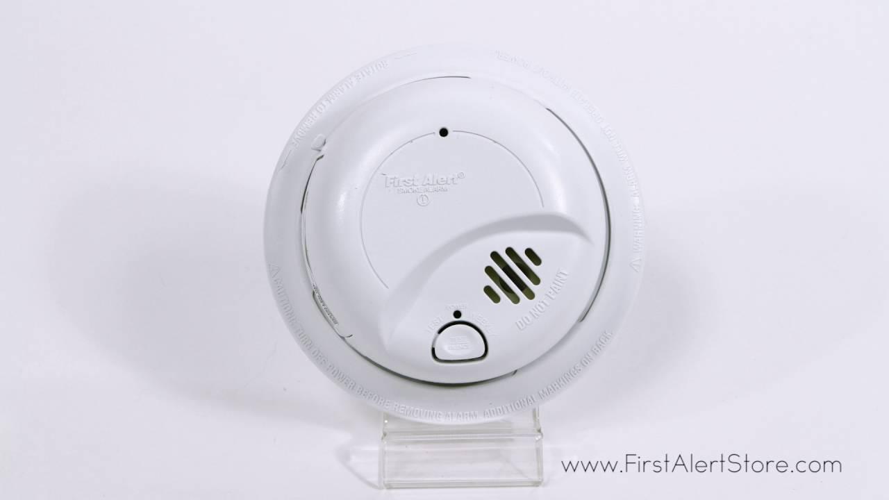 medium resolution of first alert hardwired smoke alarm with battery backup 9120b