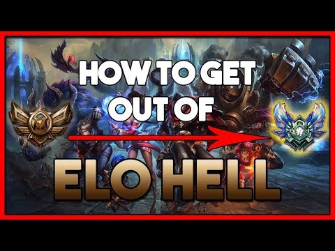 HOW TO GET OUT OF BRONZE, SILVER and GOLD (Elo Hell) in League of Legends