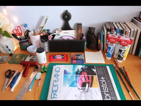 Collage Materials and Tools: In the Studio with Jamie