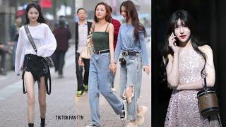 [抖音] Street Style - Phố Đi Bộ Trung Quốc Toàn Gái Đẹp, Gái Trung Quốc Phong Cách Như Thế Nào??? #1🤩
