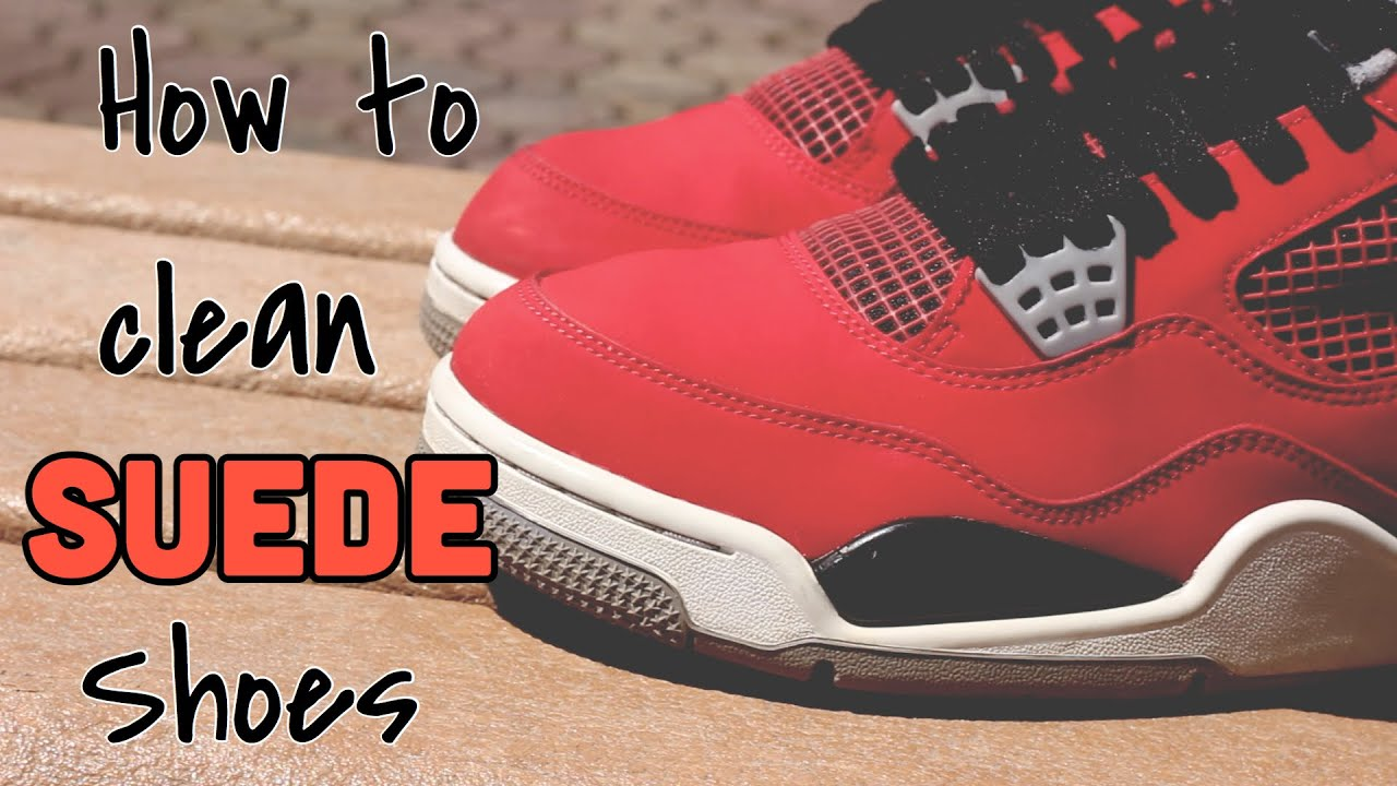 How to clean SUEDE shoes | Jordan - YouTube