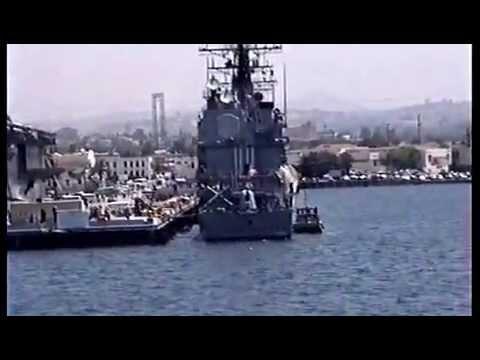 HMAS HOBART Entering San Diego Harbour 1992 2 of 2