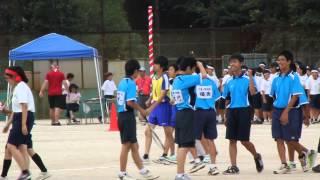 2014/9/13 四街道西中学校 体育祭 部活対抗リレー 男子バレー部.