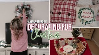 DECORATING FOR CHRISTMAS 2018 | Decorate with me for Christmas - Master Bedroom Edition!