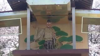 岡崎城・岡崎公園にあるからくり時計(^^♪ 徳川家康公が能を舞います(^^)...