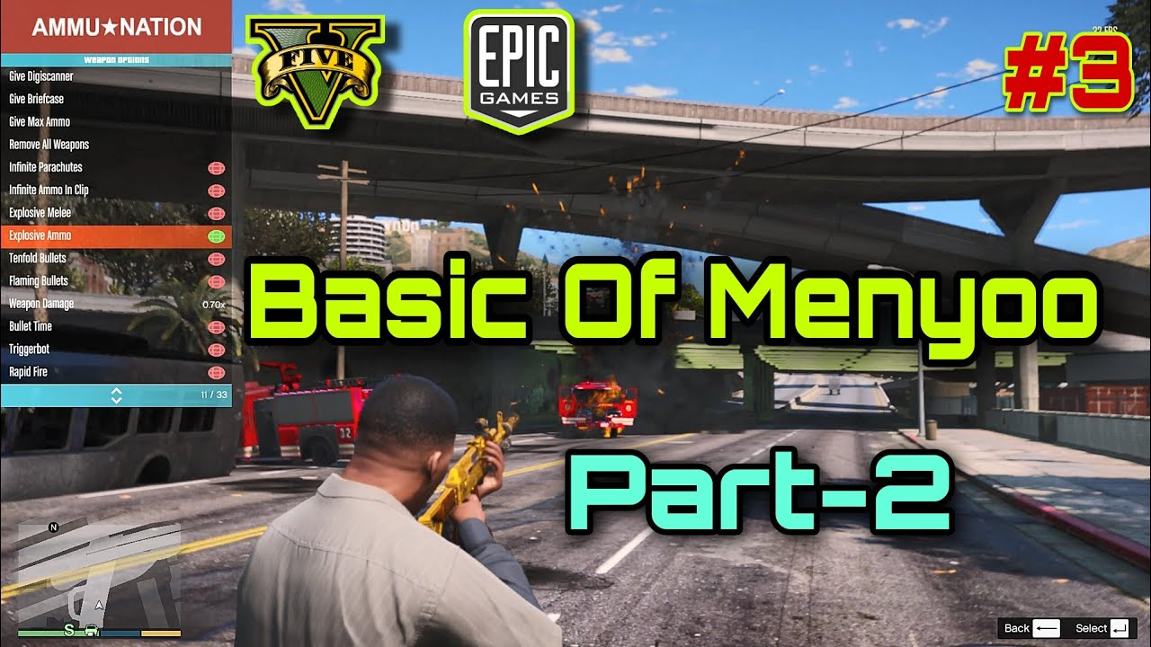 Download GTA 5 - Basic Of Menyoo Part-2 Weapon Option , Weather Option ,Time Option | Tutorial-3 |