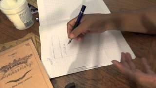 Learning Spencerian Handwriting: How I fixed My Grip