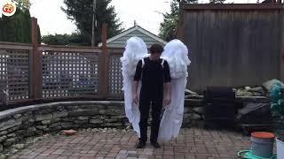 Người đàn ông kỳ lạ mọc đôi cánh khổng lồ như đại bàng