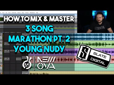 3 Song Marathon Pt. 2! FULL Mixing & Mastering Studio Session | RAP VOCALS | YOUNG NUDY | How To