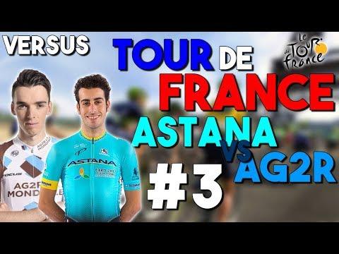 TOUR DE FRANCE 2017 VERSUS   Astana VS AG2R La Mondiale   Etape 7 à 9