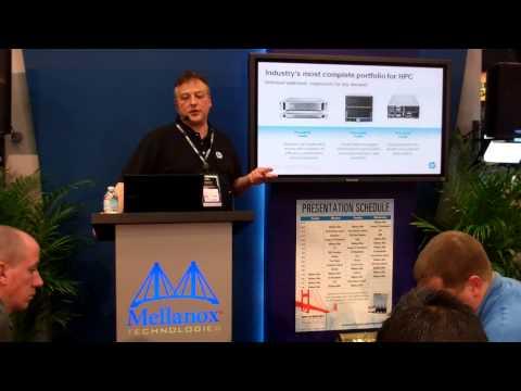 HP presenting at the Mellanox booth during VMworld