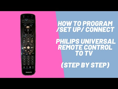 How To Program/Set Up/ Connect Philips Universal Remote Control To TV  (Step By Step)