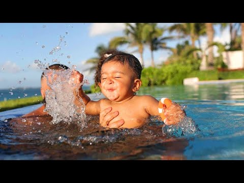 Dj Khaled In Tears As His Son Asahd Masters Swimming At 2 Years Old!