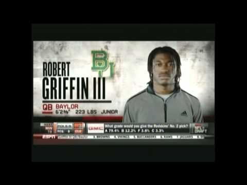Robert Griffin III Gets Drafted 2013