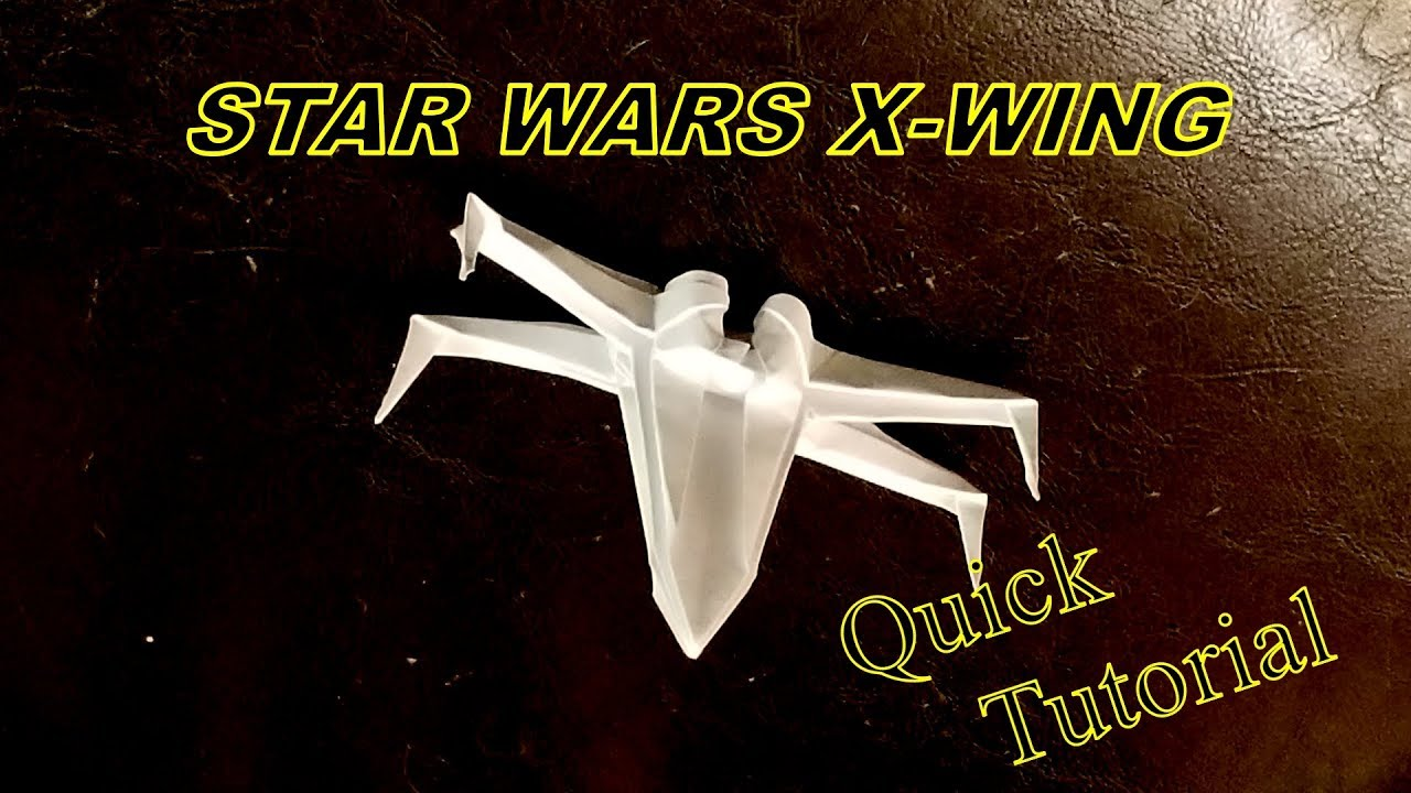 Star wars x wing how to fold the origami star wars x wing quick star wars x wing how to fold the origami star wars x wing quick tutorial jeuxipadfo Gallery