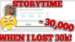 HOW I GOT SCAMMED ON ROBLOX! 30K LOSE! (ROBLOX STORYTIME)