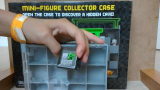 opening minecraft figure collector case|lots if cool figures