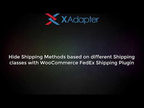 Hide Shipping Methods based on different Shipping Classes using WooCommerce FedEx Shipping plugin