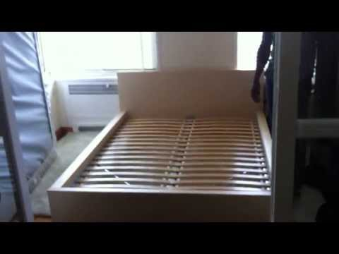 ikea malm bed assembly service video in Baltimore MD by Furniture assembly experts LLC