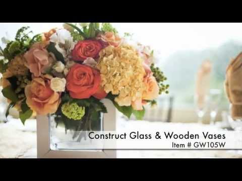 Modern Collections Chatsworth Fine Glass And Wood Vase Wholesale